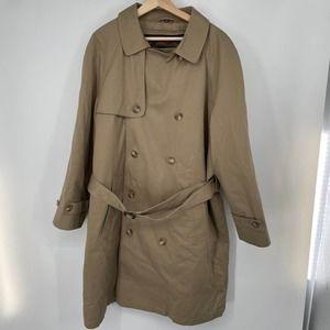Hart Schaffner Marx Double Breasted Rain Coat 42S